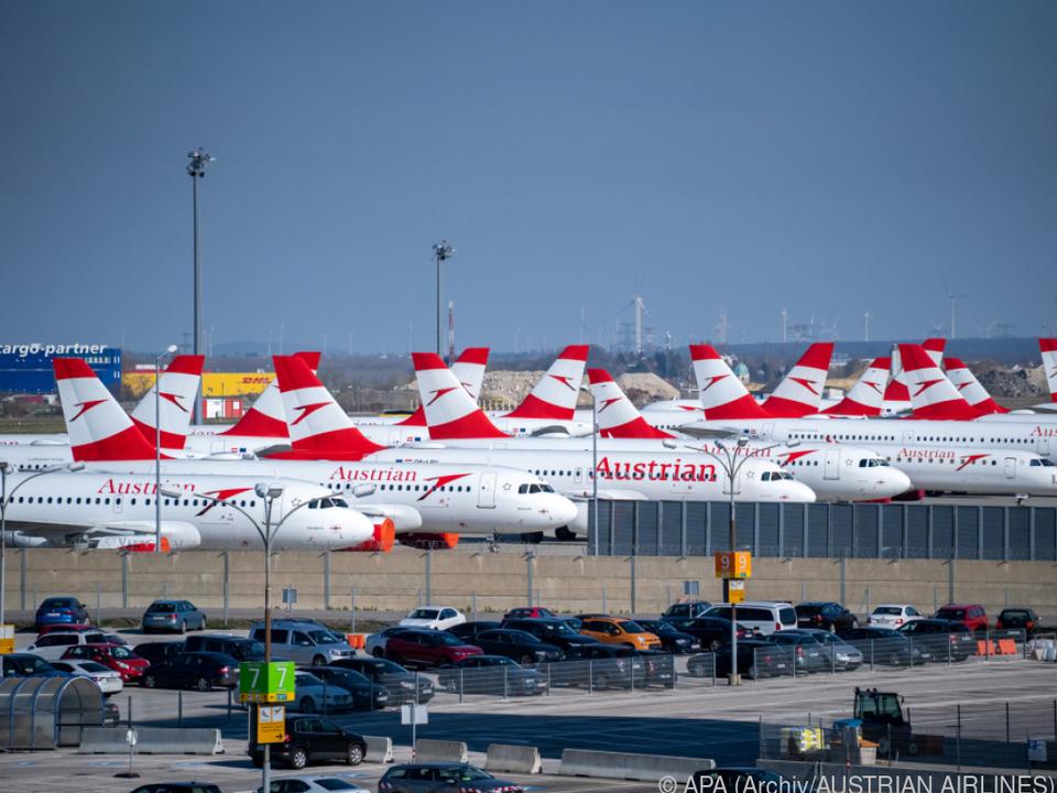 Linienflugbetrieb der AUA steht seit dem 18. März still