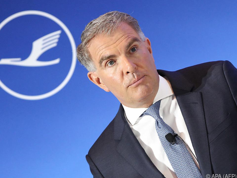 Lufthansa-Chef Carsten Spohr will Staatshilfen für die AUA