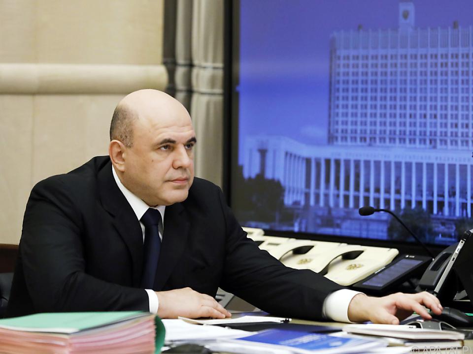 Michail Mischustin ist derzeit in Selbstisolation