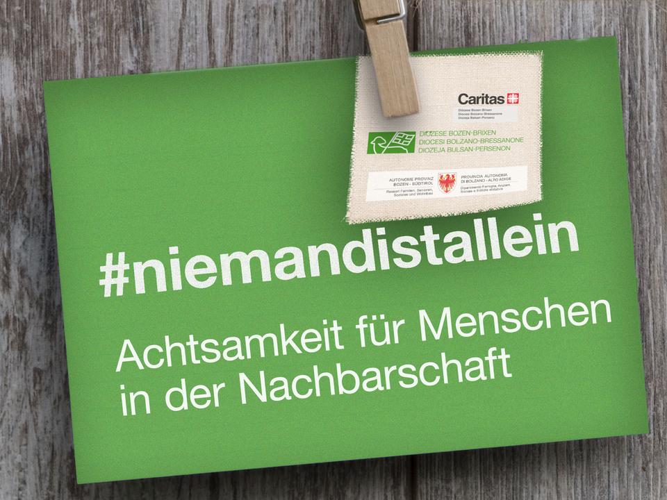 #Niemandistallein - Postkarte (2)
