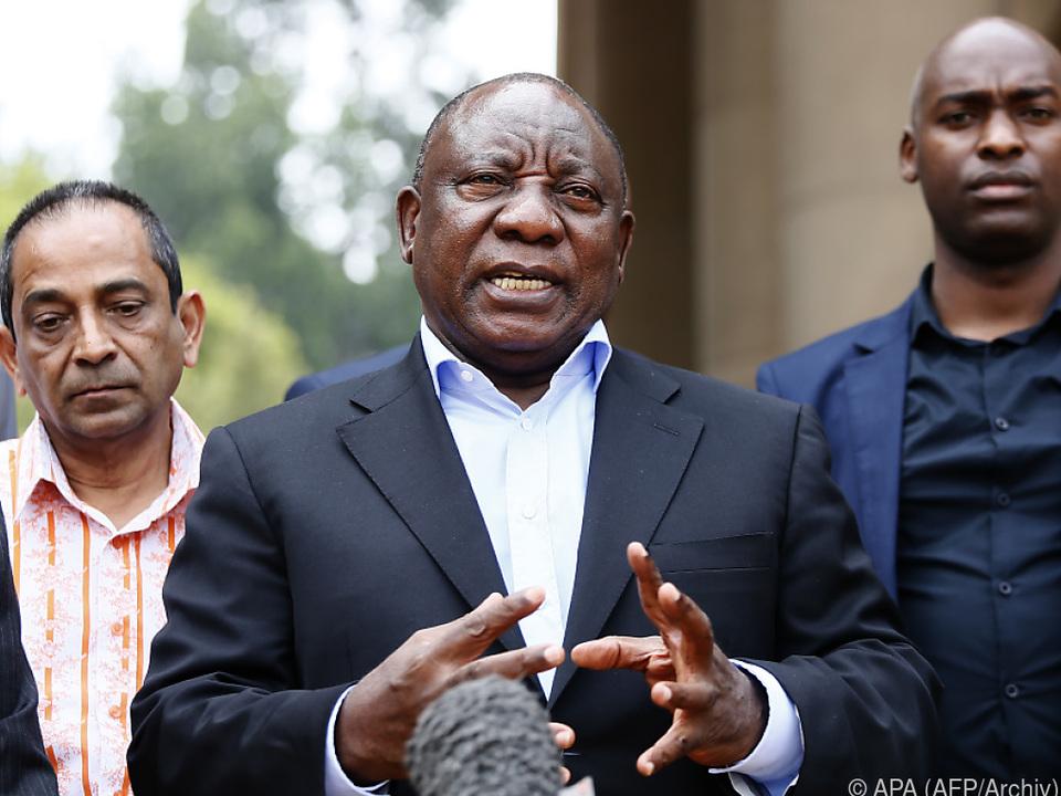 Ramaphosa verkündete die Maßnahmen