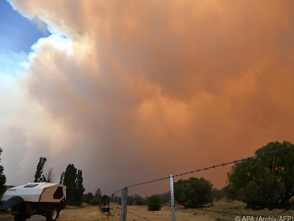 Riesige Rauchwolke bildete sich in Australien