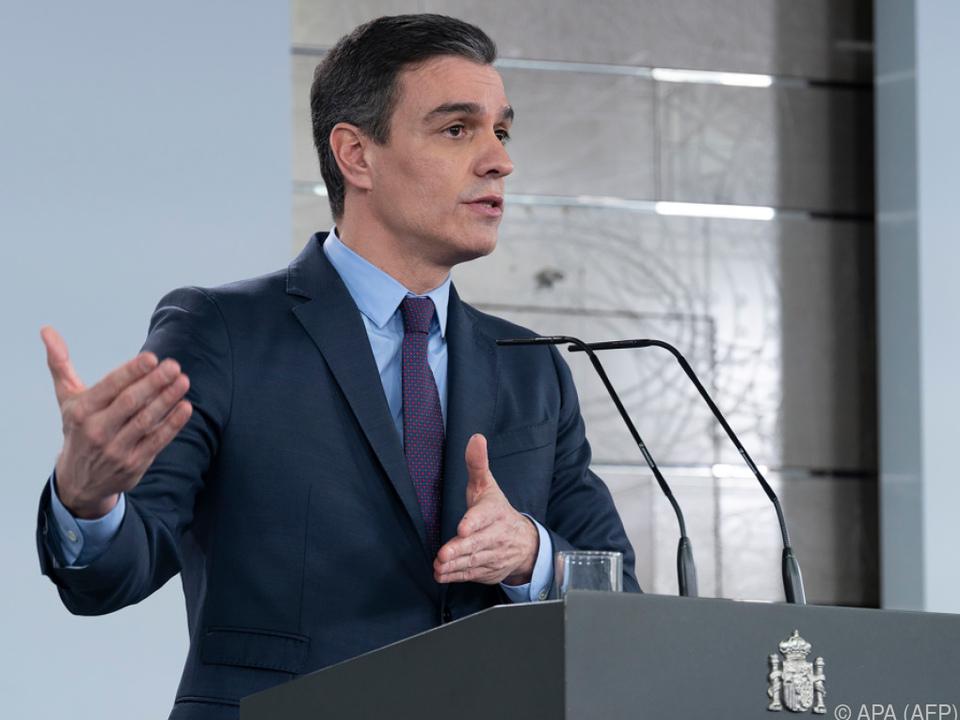 Sanchez an EU-Verantwortliche: Solidarität ist das Gebot der Stunde