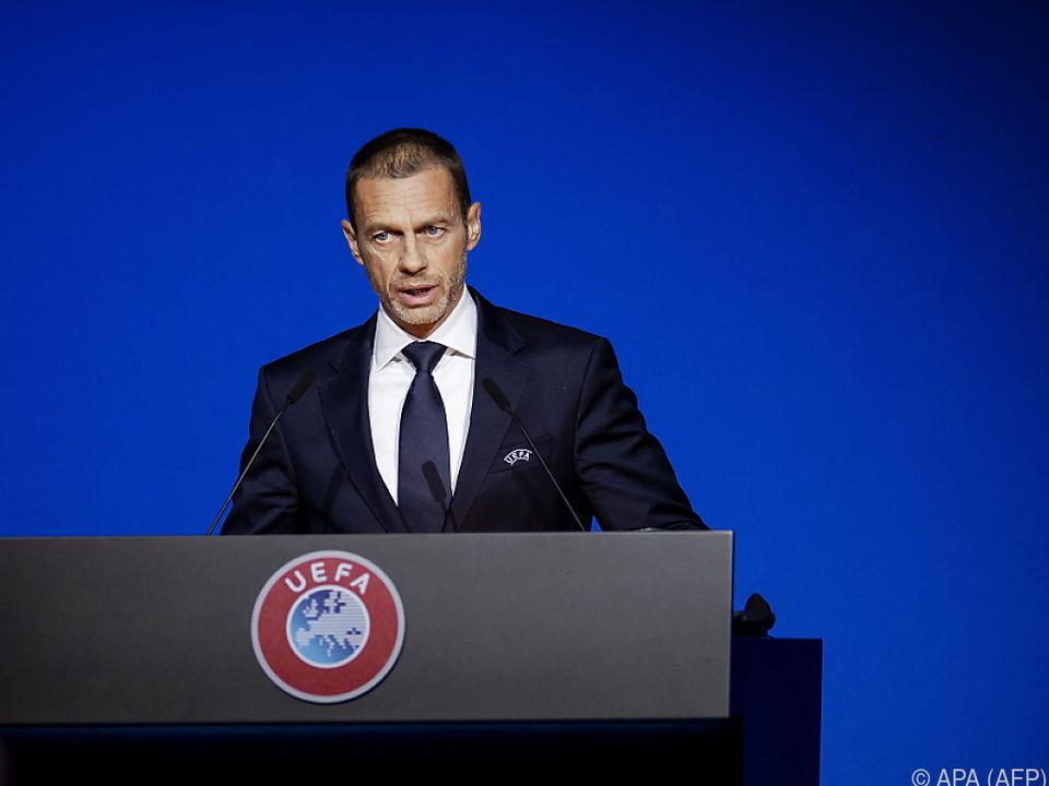 UEFA-Präsident Aleksander Ceferin ist sauer