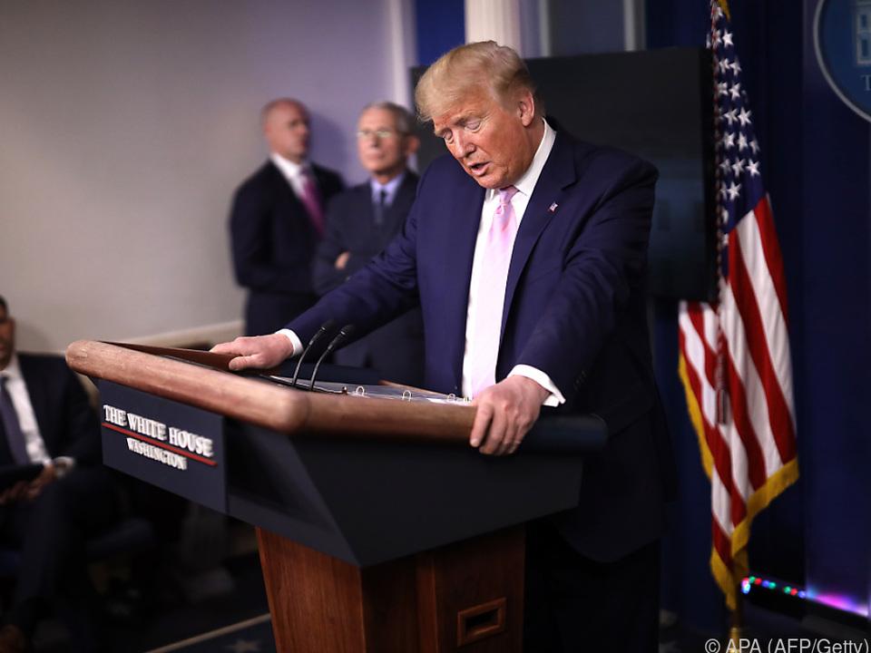 US-Präsident Trump im Weißen Haus
