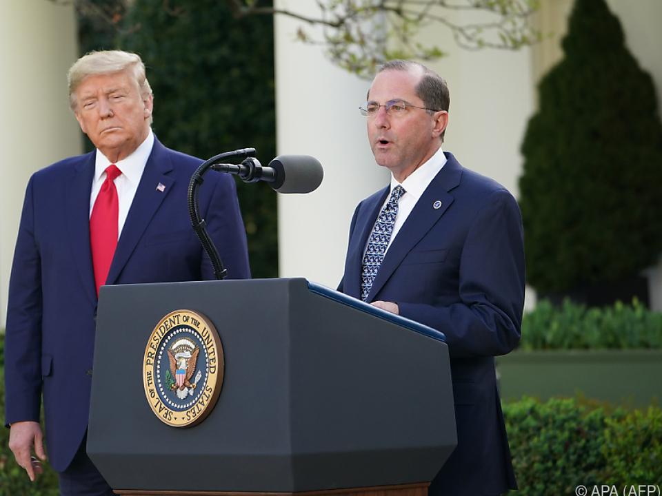 US-Präsident Trump und Gesundheitsminister Alex Azar
