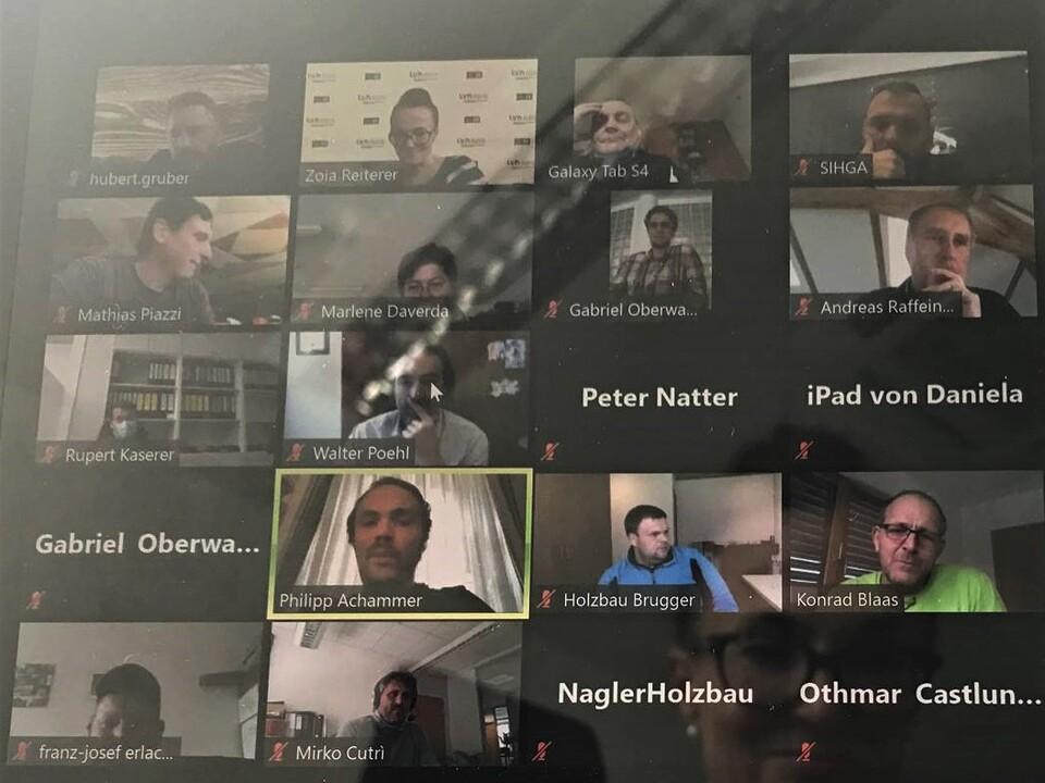 Videokonferenz Holzbaumeister und Zimmerer