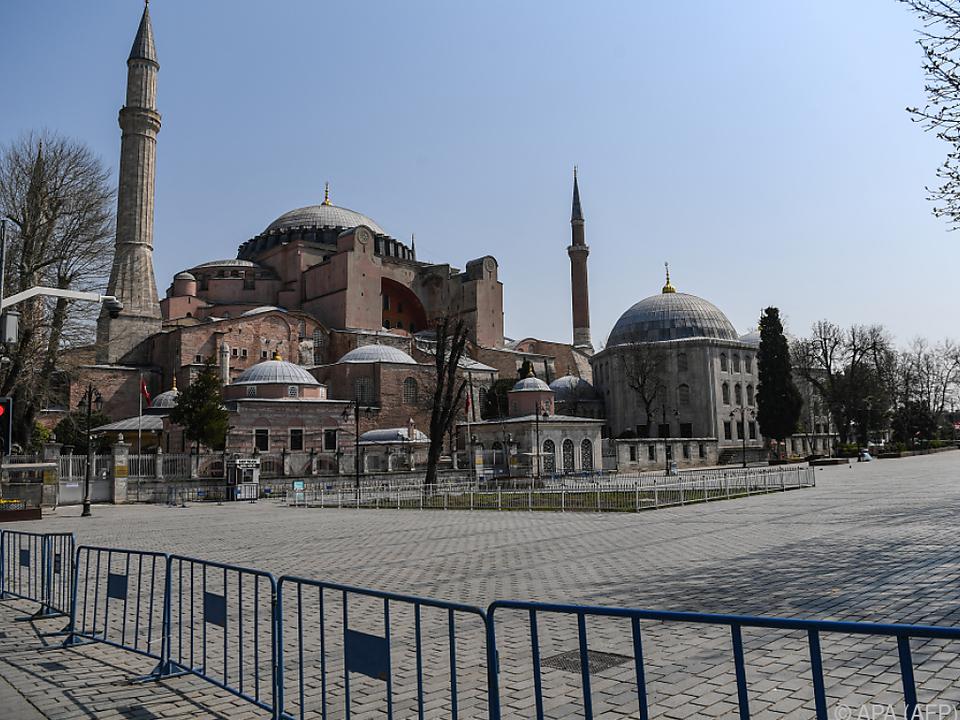Völlig ungewohnte Bilder aus Istanbul - Hier die Hagia Sophia