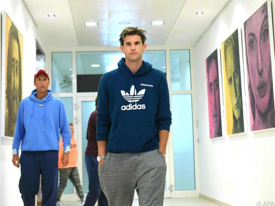 Weltranglistendritter startet am Montag gegen Isner