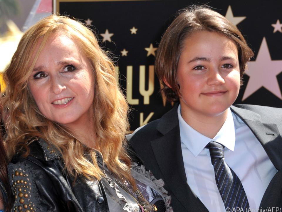 2011 feierte Melissa Etheridge mit Sohn Beckett am \