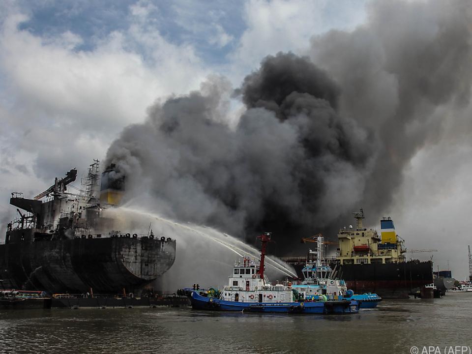 An Bord soll es eine Explosion gegeben haben