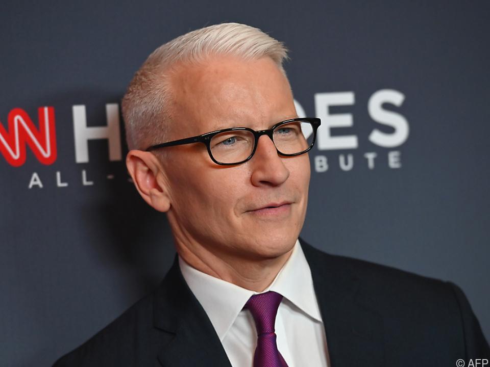 Anderson Cooper ist einer der bekanntesten Nachrichtenmoderatoren
