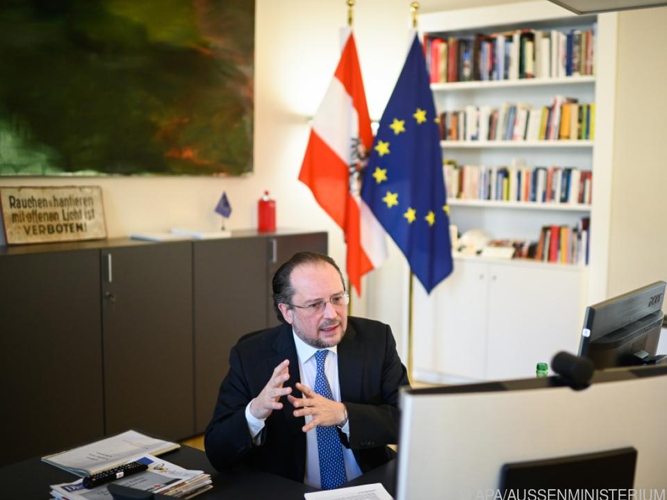 Außenminister Schallenberg beriet sich mit seinen EU-Kollegen