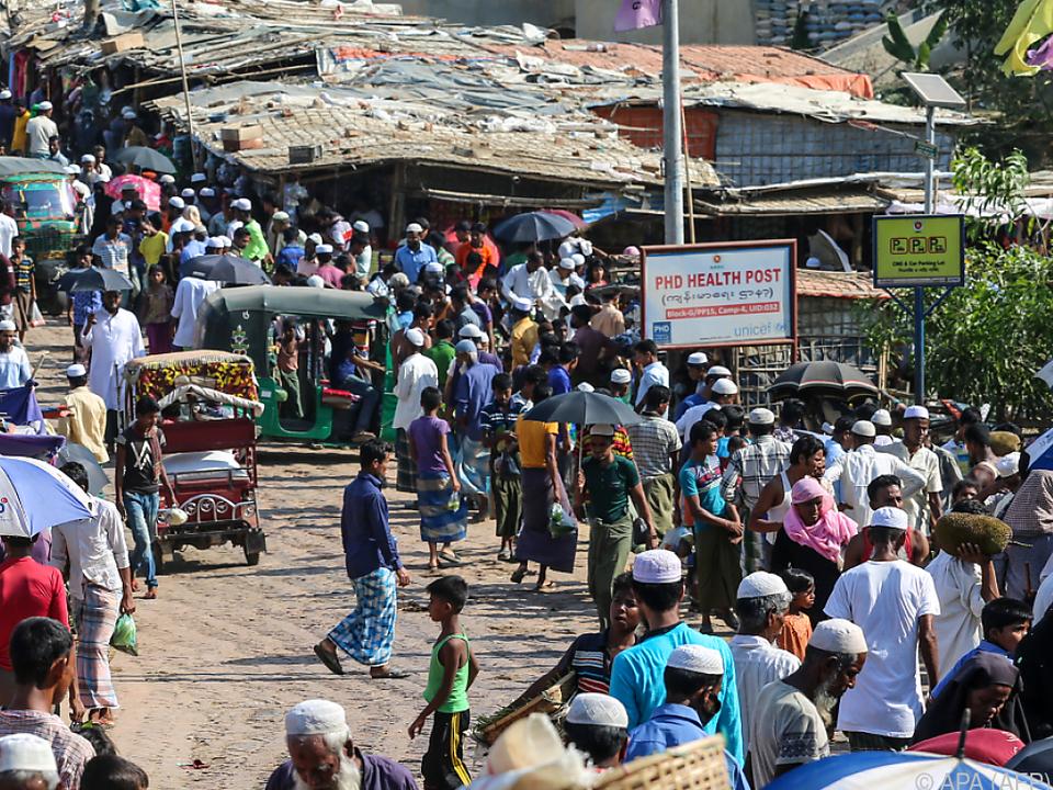 Coronavirus-Infektionen in Rohingya-Flüchtlingslager