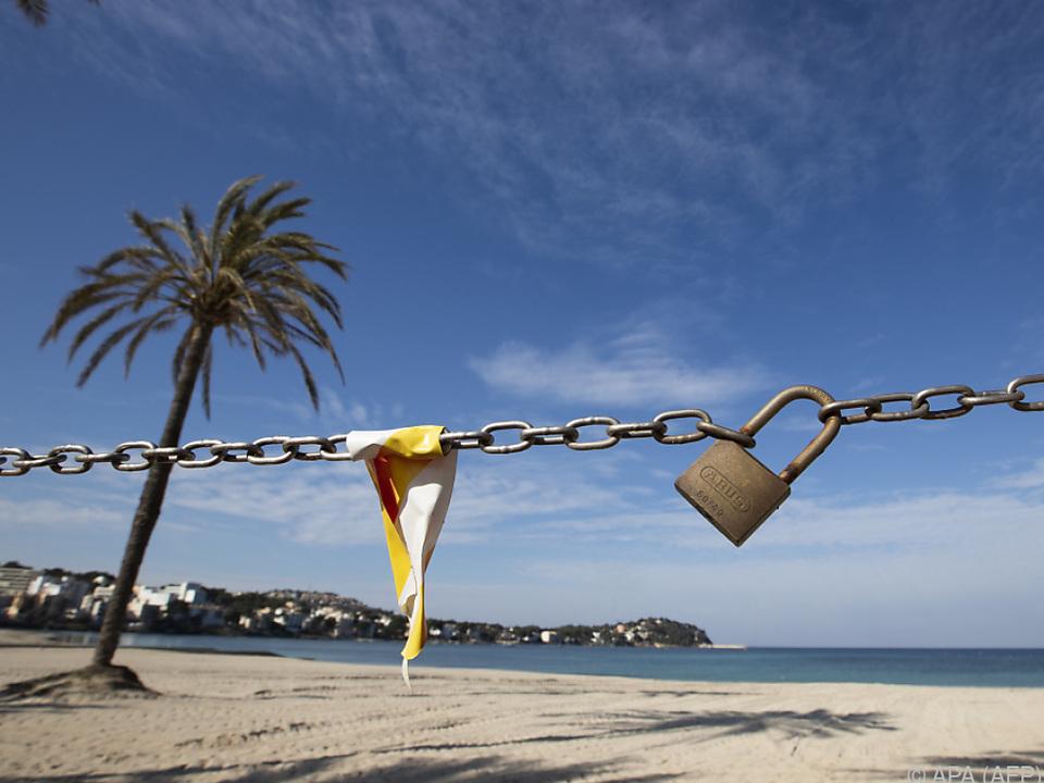 Der Tourismus in Spanien ist stark eingegrenzt