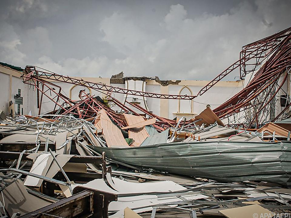 Der Tropensturm wütete im Osten des Landes