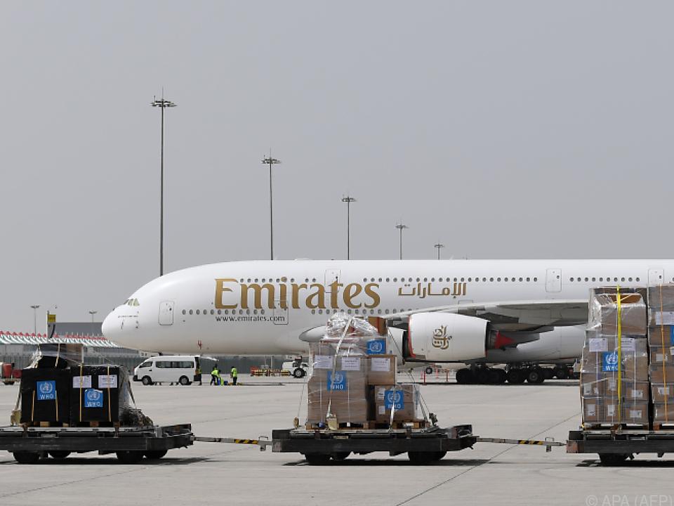 Die Fluglinie Emirates ist in Schwierigkeiten