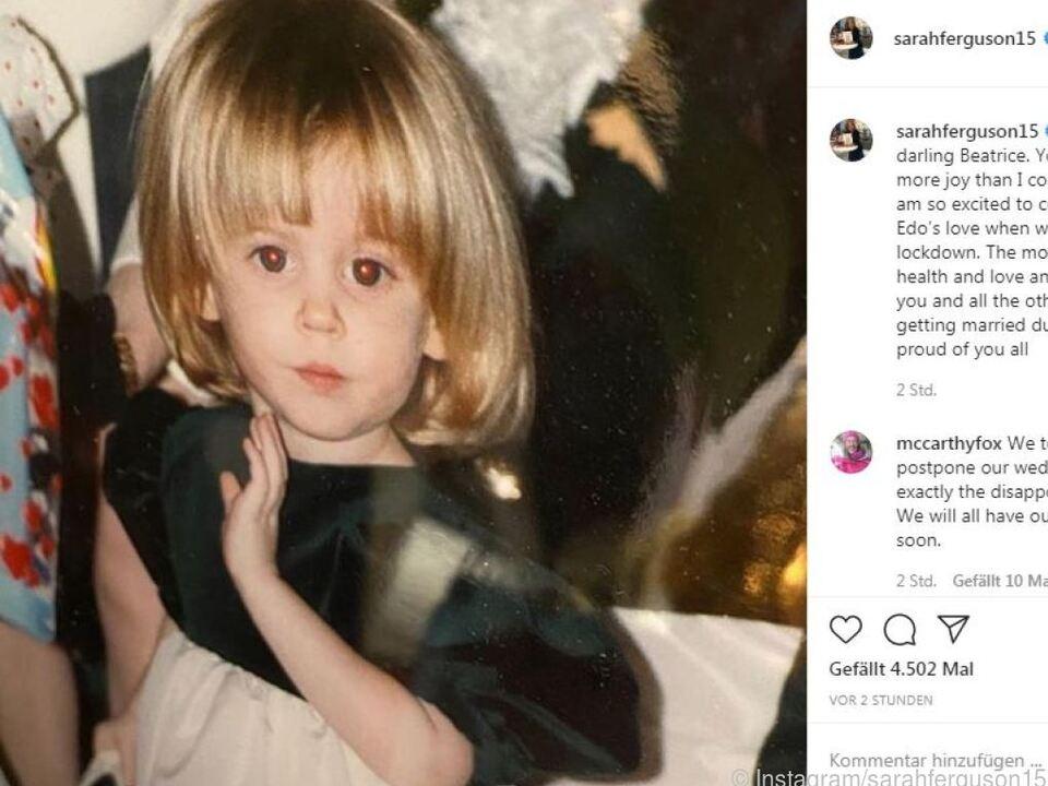 Die Mutter von Beatrice postete dieses Kinderfoto auf Instagram