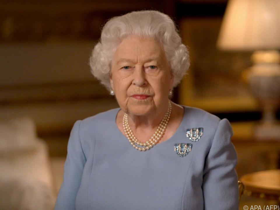 Die Queen richtete ihre Dankesworte per Telefon aus
