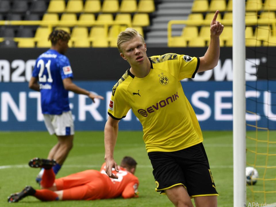 Erling Haaland traf beim 4:0-Sieg Dortmunds gegen Schalke
