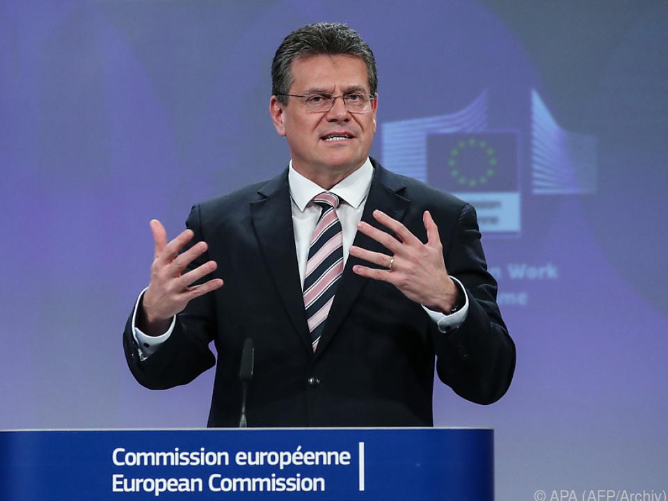 EU-Kommissionsvizepräsident Maros Sefkovic