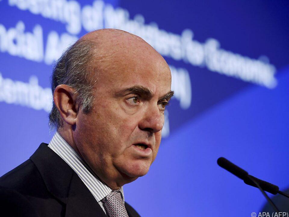 EZB-Vizepräsient Luis de Guindos