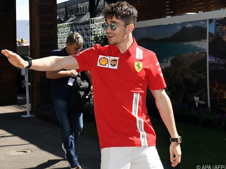 Ferrari-Pilot Charles Leclerc auch an der Spielekonsole hoch konzentriert