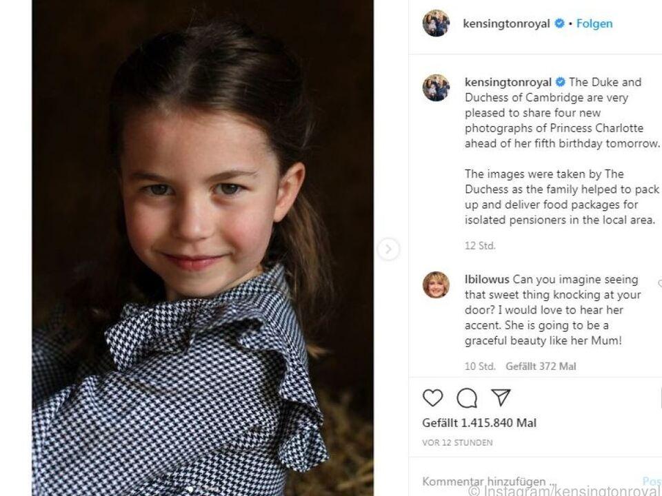 Foto von Charlotte auch auf Instagram