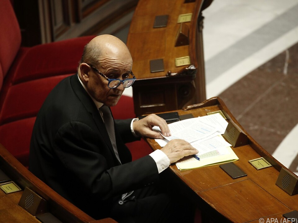 Frankreichs Außenminister Jean-Yves Le Drian
