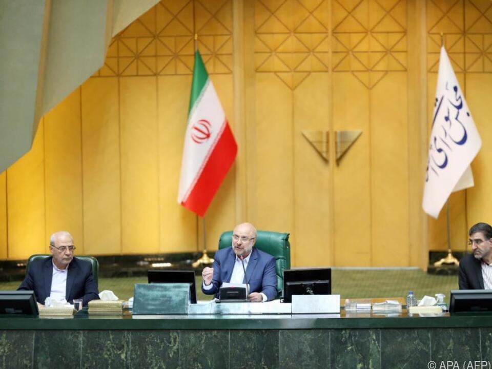 Ghalibaf hielt seine erste große Ansprache im Parlament