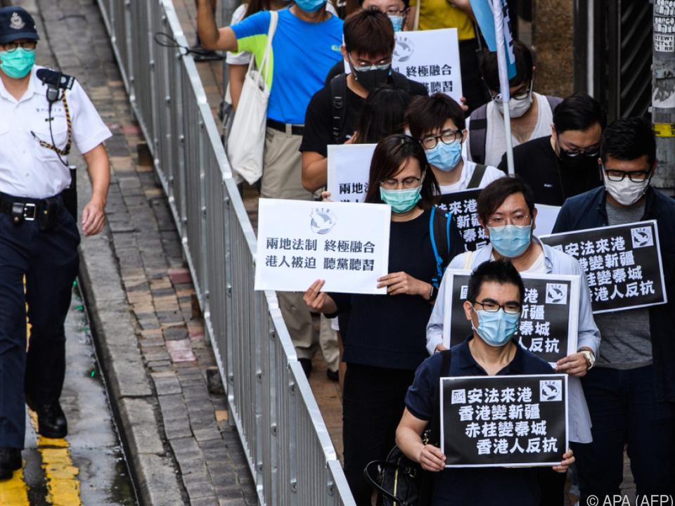 In Hongkong regt sich bereits Widerstand gegen das Gesetz