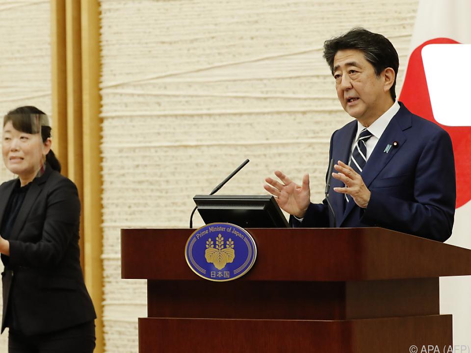 Japanischer Premier Shinzo Abe sieht Handlungsbedarf