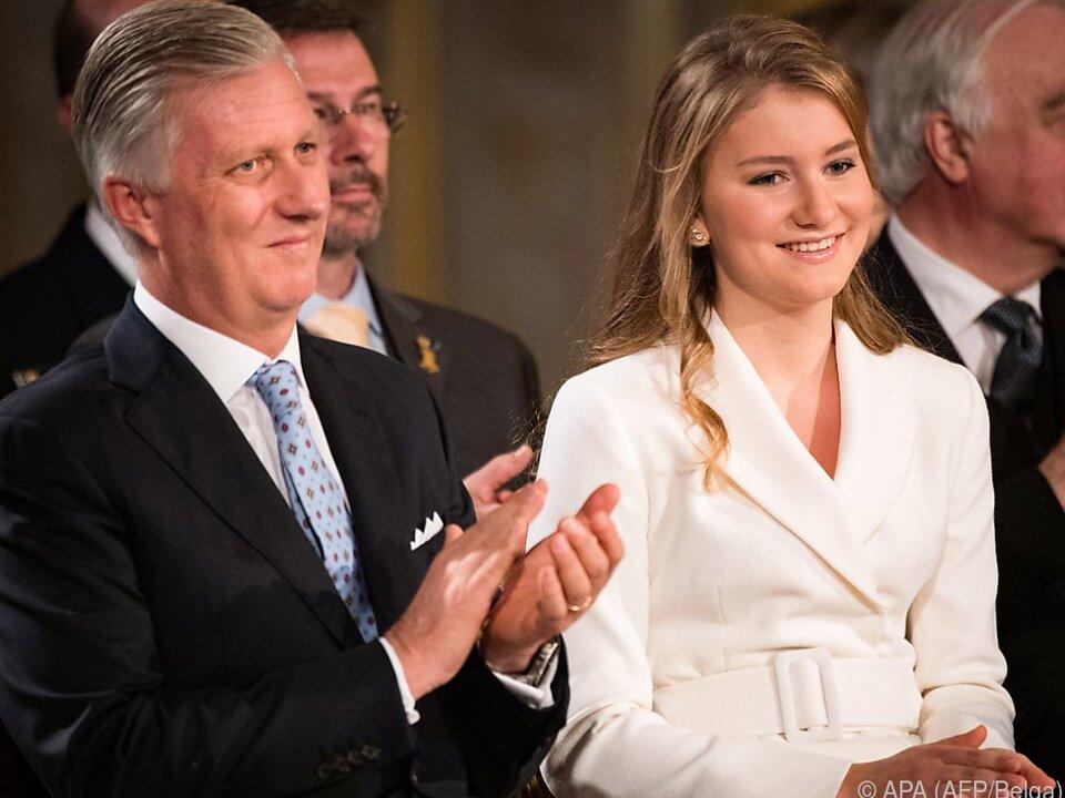 König Philippe von Belgien ist stolz auf seine Tochter Elisabeth