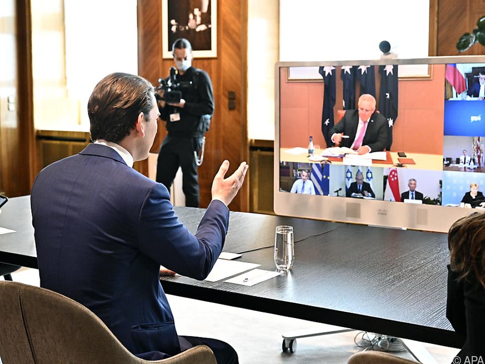 Kurz sprach mit Amtskollegen aus diversen Ländern