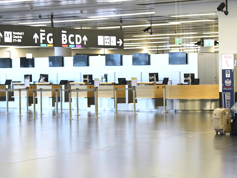 Leere Hallen waren am Wiener Flughafen zuletzt der Normalzustand