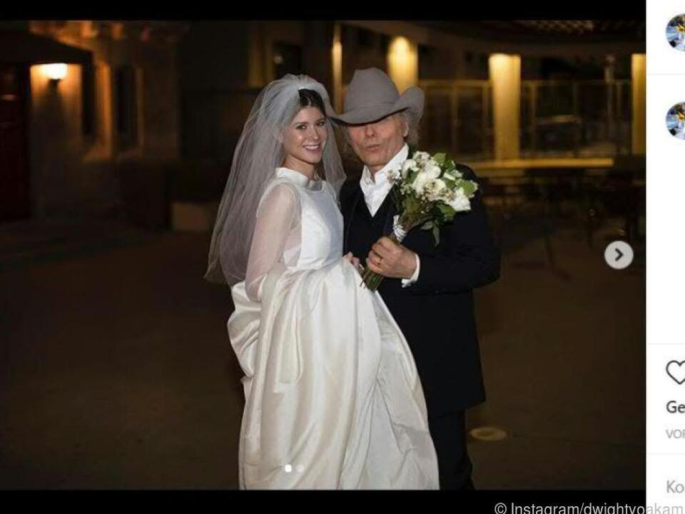 Mit 63 noch einmal mit einer jungen Frau verheiratet