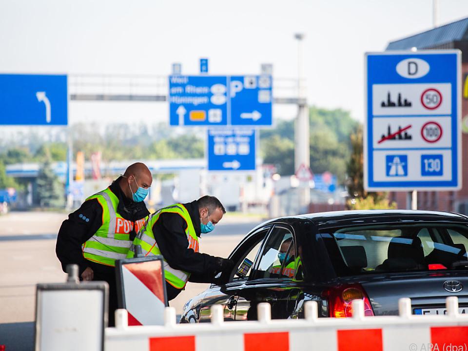 Nur mehr Stichprobenkontrollen an der deutschen Grenze