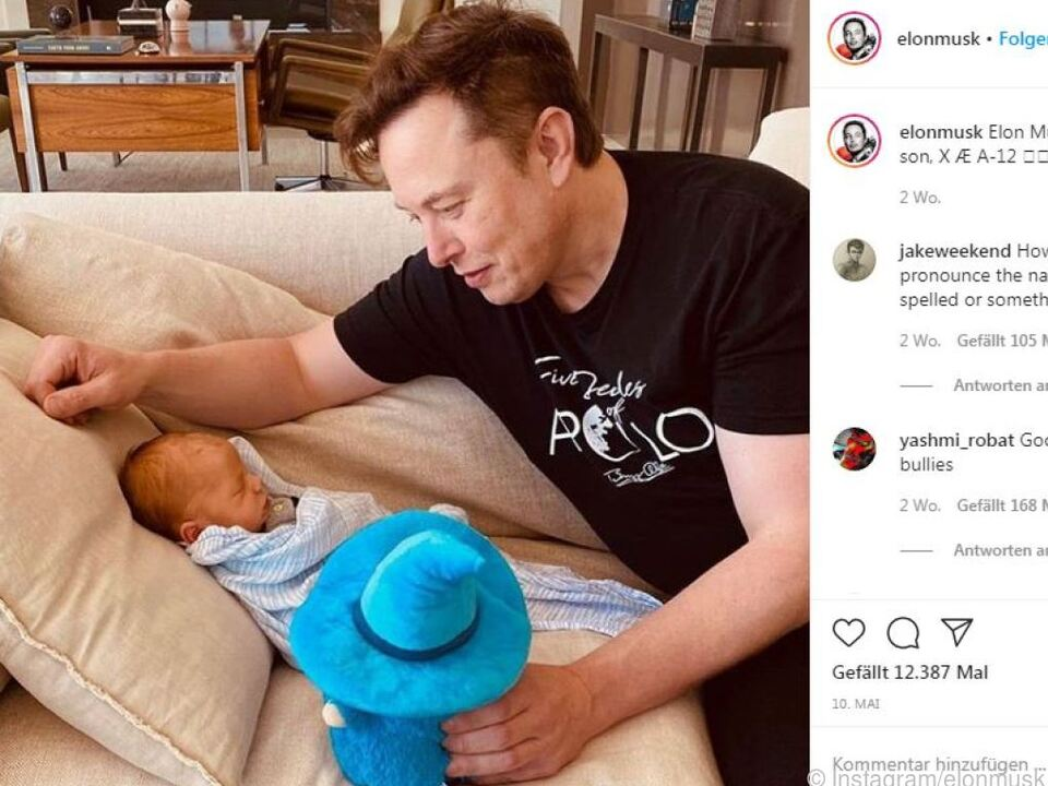 Ob sich Musks Sohn über den Namen freut?