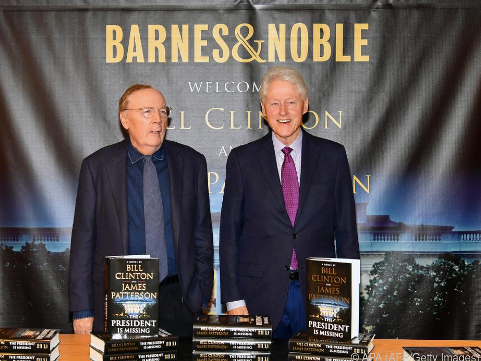 Patterson (l.) verhilft Clinton zu einer Krimiautor-Karriere