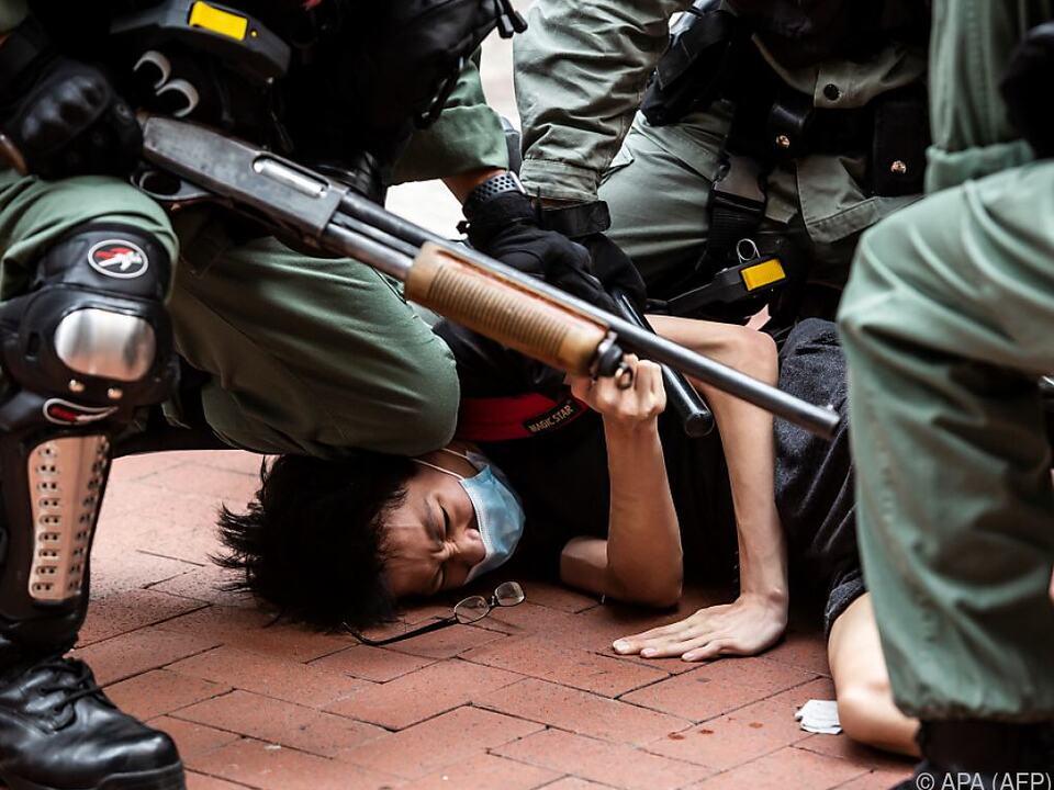Polizeigewalt gegen Demonstranten in Hongkong