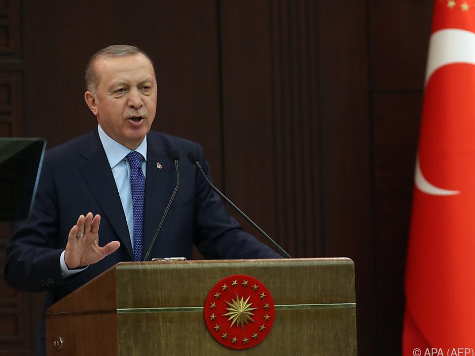Präsident Recep Tayyip Erdogan appelliert an sein Volk