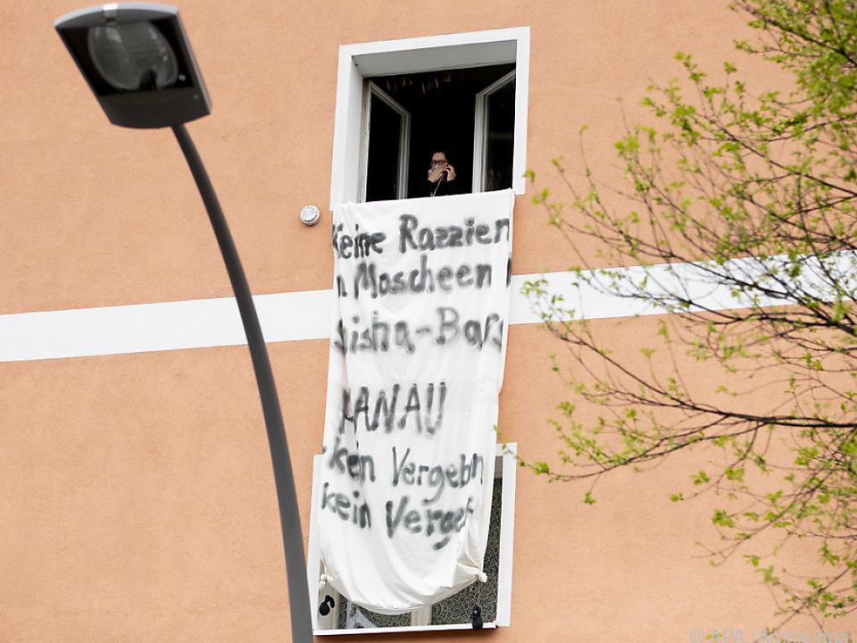 Protest gegen Razzien in Deutschland
