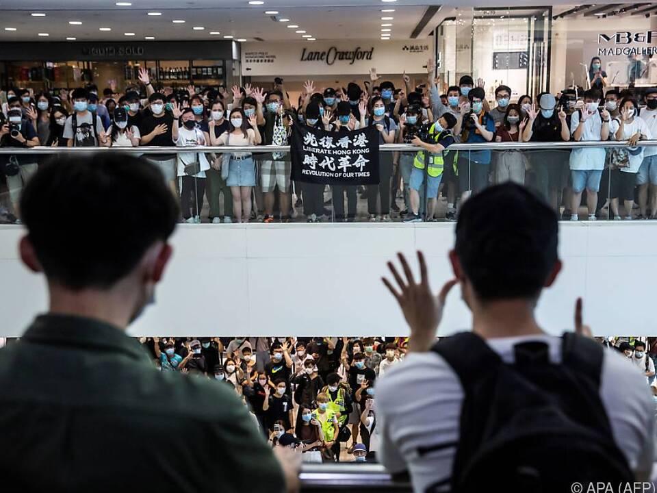 Proteste in mehreren Einkaufszentren
