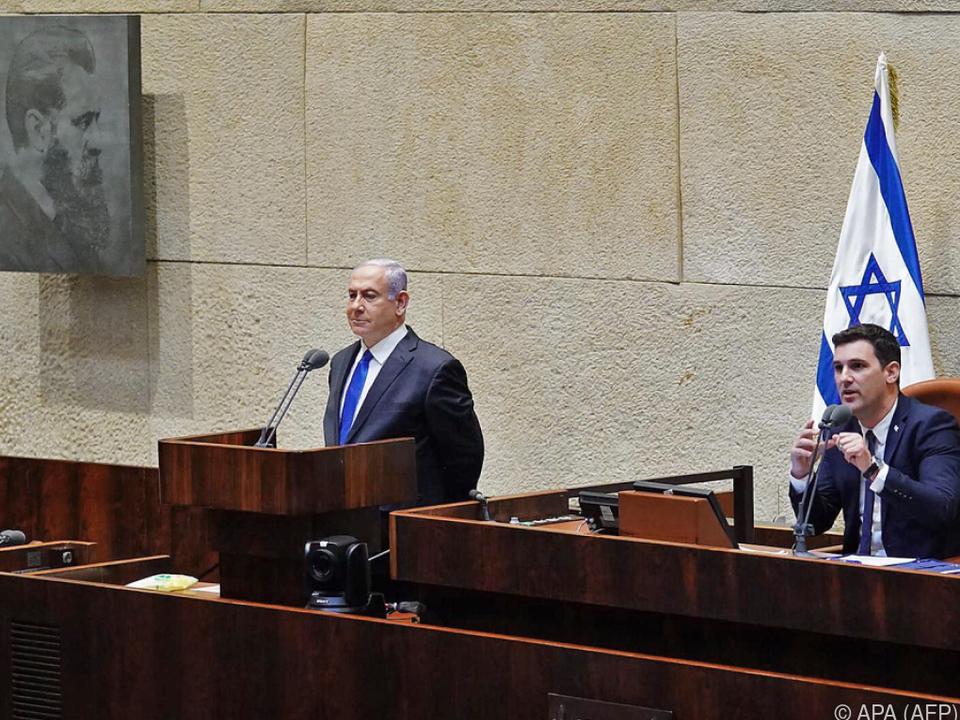 Regierungschef Netanyahu stellte das neue Regierungsteam vor