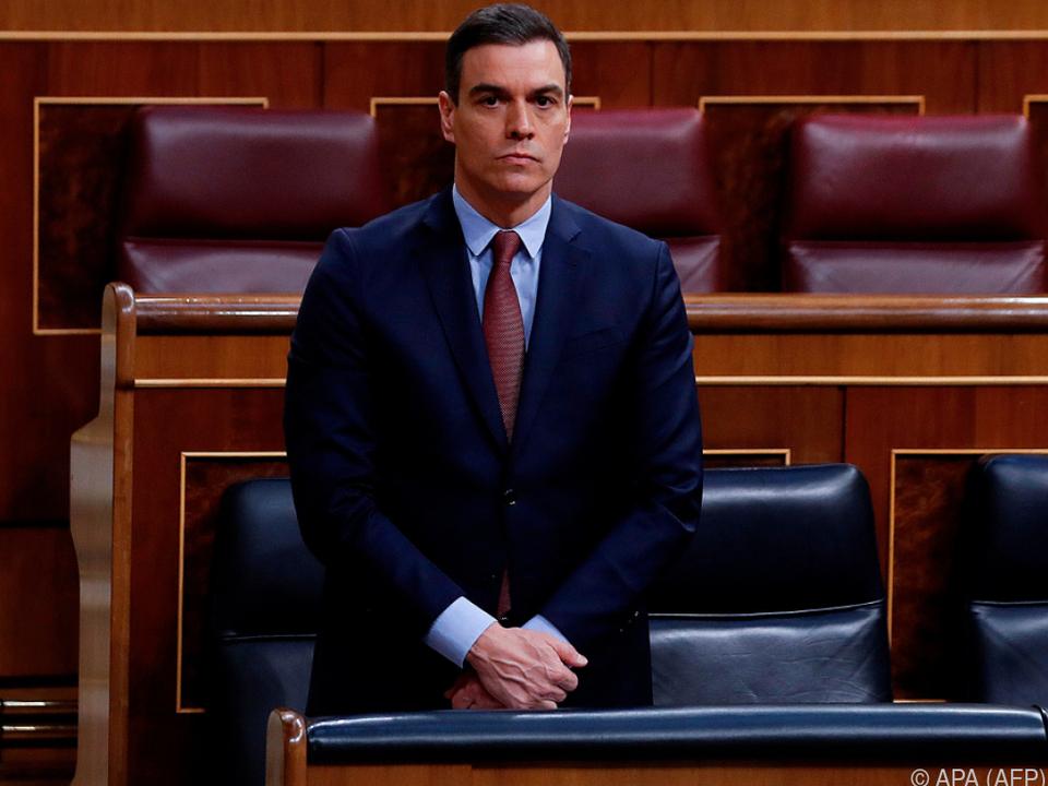 Sánchez warnte vor einer Aufhebung des Notstands