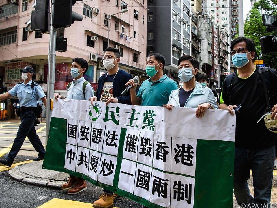 Schon am Samstag gab es Proteste in Hongkong