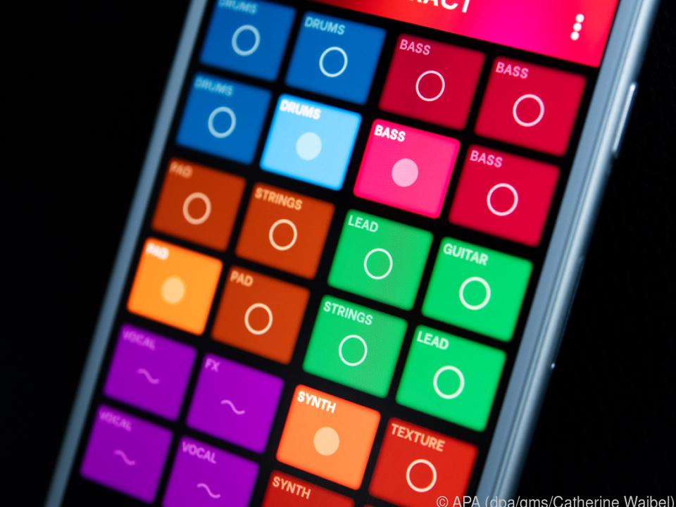 Splash lässt sich über farbige Flächen intuitiv bedienen