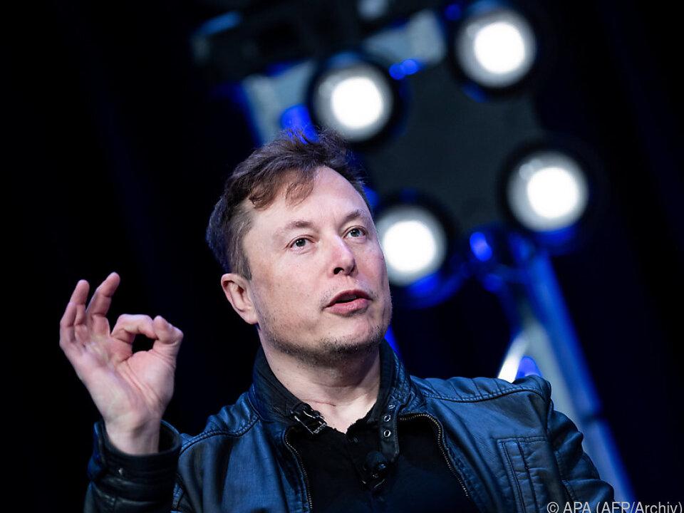Tesla-Gründer Elon Musk findet seine Aktien zu hoch bewertet