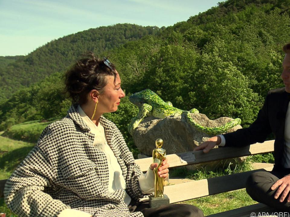 Ursula Strauss erhielt Romy während Schein-Interview von Andy Knoll