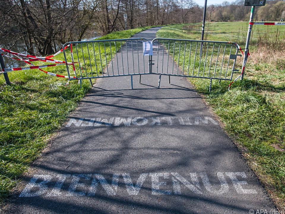 Viele Grenzwege nach Frankreich wurden gesperrt